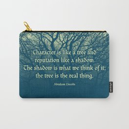 Tree of Character VINTAGE BLUE / Deep thoughts by Abe Lincoln Carry-All Pouch