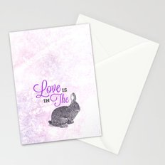 Love is in the hare. Stationery Cards