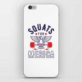 Squats For Merica v2 iPhone Skin