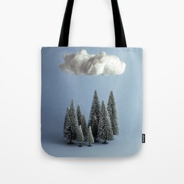 A cloud over the forest Tote Bag