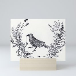 Crystal Raven Mini Art Print