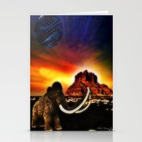 surrealism Stationery Cards featuring Prehistoric surrealism by Daluci Designs