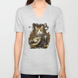 Bard Cat Unisex V-Neck