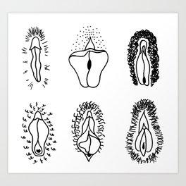 Vulvariety Art Print