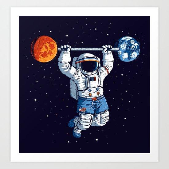 Space Gym  Art Print
