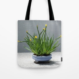 Golden Blue-Eyed Grass Tote Bag
