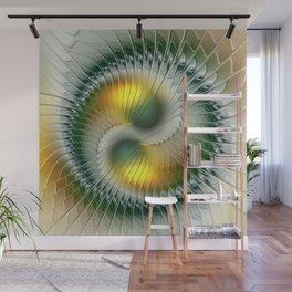 Like Yin and Yang, Abstract Fractal Art Wall Mural