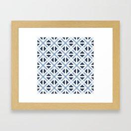 Geo Stamp Blue Framed Art Print