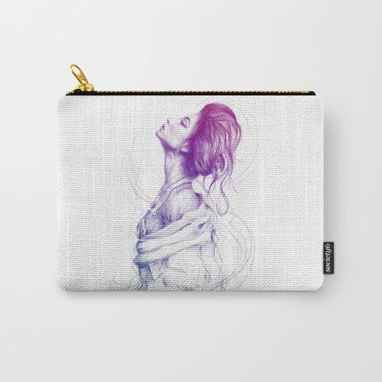 Beautiful Woman Lady Portrait Fashion Art Carry-All Pouch