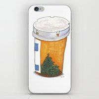 pills iPhone & iPod Skins featuring Pills on pills by Society's Sick