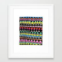 quilt Framed Art Prints featuring quilt by KaylaNewell