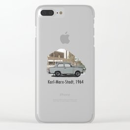 A Trabant in Karl-Marx-Stadt Clear iPhone Case