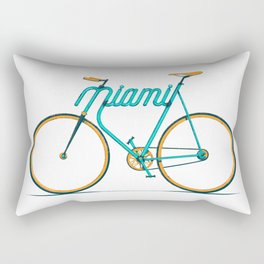 Miami Typo - Bike Rectangular Pillow