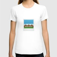 hiking T-shirts featuring Hiking Society by klausbalzano