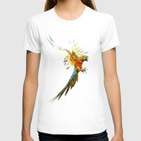 low poly T-shirts featuring Low poly Parrot by exya