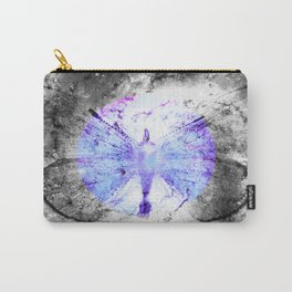 Celestial Butterfly Pop of Color Periwinkle Carry-All Pouch