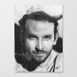 Bradley Cooper Traditional Portrait Print Canvas Print