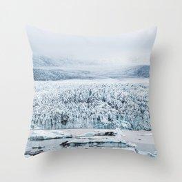 Fjallsarlon Iceberg Lagoon in Iceland Throw Pillow