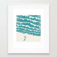 ilovedoodle Framed Art Prints featuring To the sea by I Love Doodle