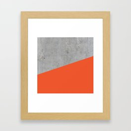 Concrete and Flame Color Framed Art Print