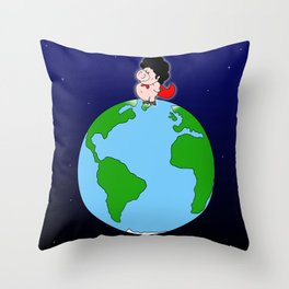 Taking over the world Throw Pillow