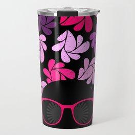Afro Diva Pink Purple Travel Mug
