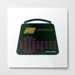 Floating Radio Metal Print