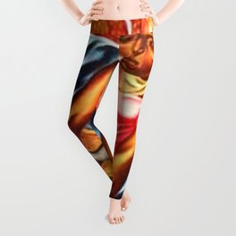 "African American Classical Masterpiece ""The Reconstruction"" by Hale Woodruff Leggings"