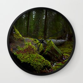 Mossy Forest Wall Clock