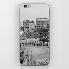 Tenby Harbour. Black+White. Reflection. iPhone & iPod Skin