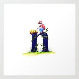 n is for nest Art Print