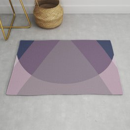 Scandinavian BLUE PURPLE MAUVE Drops Rug