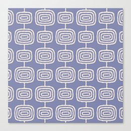 Mid Century Modern Atomic Rings Pattern Lavender Canvas Print