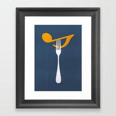 Hungry For Music Framed Art Print