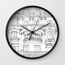 the face of Paris Wall Clock