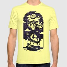 Time Heals LARGE Mens Fitted Tee Lemon