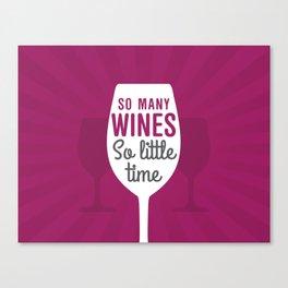 So Many Wines Canvas Print