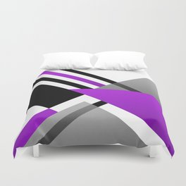 Sophisticated Ambiance - Silver & Highlighter Lavender Duvet Cover