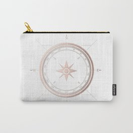 Rosegold on White Compass II Carry-All Pouch
