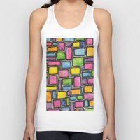 mod Tank Tops featuring Geometric Mod by Andrea Gingerich