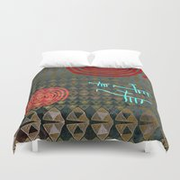 art history Duvet Covers featuring History layers by Menchulica