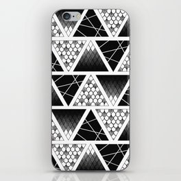 Zentangle Triangles iPhone Skin