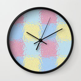 Pastel Jiggly Tile Pattern Wall Clock