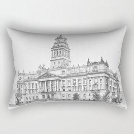 Wayne County Court House | Detroit Michigan Rectangular Pillow