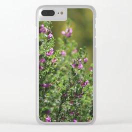 Closeup of Texas Ranger Bush Against Yellow Palo Verde Blossoms Clear iPhone Case