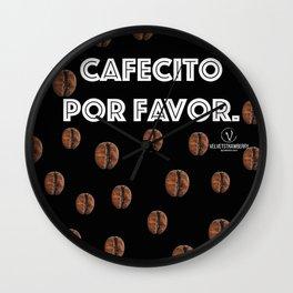 Cafecito Por Favor Wall Clock