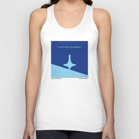 inception Tank Tops featuring No240 My Inception minimal movie poster by Chungkong