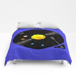 Solar System Vinyl Record Comforters