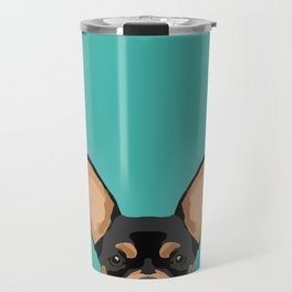 Chihuahua dog head pet portrait cute pet art chiwawas dog breed pure breeds Travel Mug