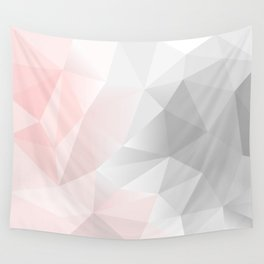 pink and gray geometric low poly background Wall Tapestry